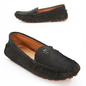 Coach Ladies 8.5 B Amber Black Driving Loafers